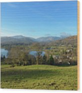Windermere With Loughrigg Fell And The Langdales From Ambleside Wood Print