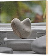 Window Hearts 2 Wood Print
