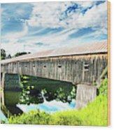 Windsor Cornish Bridge Wood Print