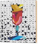 Wine And Matzo- Art By Linda Woods Wood Print
