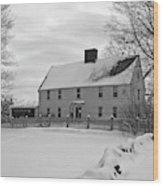 Winter At Noyes House Wood Print
