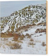 Winter Badlands Wood Print