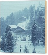 Winter In Gstaad Wood Print