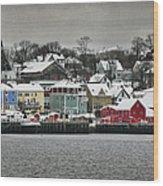 Winter In Lunenburg Wood Print