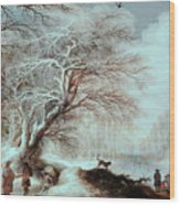 Winter Landscape Wood Print