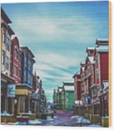 Winter Morning - Park City, Utah Wood Print
