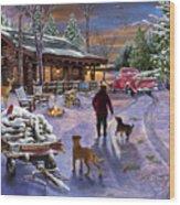Winter Refuge Wood Print