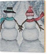 Winter Stroll Wood Print