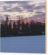 Winter Sunsets Wood Print