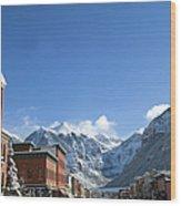 Winter Telluride Colorado Wood Print