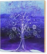 Winter Tree One Wood Print