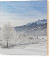 Winter Wonderland Below Whitehouse Mountain Wood Print