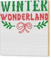 Winter Wonderland Christmas Secret Santa Snowing On Christmas Wood Print
