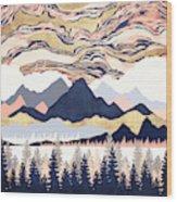 Winter's Sky Wood Print