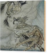 Witches, 1907 Wood Print