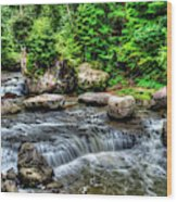 Wolf Creek Falls, New River Gorge, West Virginia Wood Print