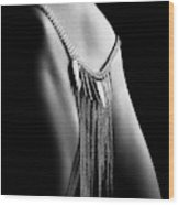 Woman Close-up Chain Panty Wood Print