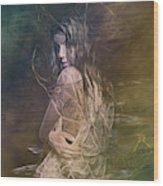 Woman In Distress Wood Print
