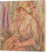 Woman In Muslin Dress, 1917 Wood Print
