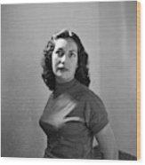 Woman Posed Wood Print