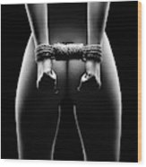 Woman's hands in bondage Wood Print