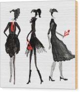Women Silhouettes Wood Print