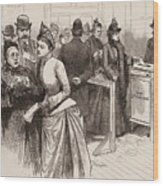 Women Voting In Election Wood Print