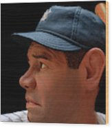 Wood Carving - Babe Ruth 002 Profile Wood Print