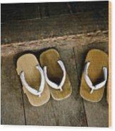 Wood Sandals Wood Print
