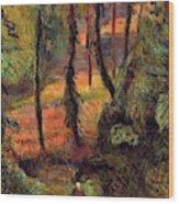 Wooded Path 1884 Wood Print