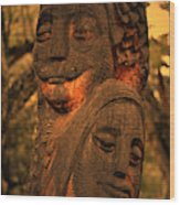 Wooden Couple Wood Print