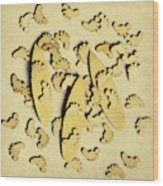 Wooden Wave Riders Wood Print