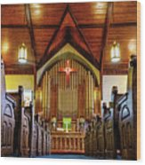 Woodstown Church Wood Print