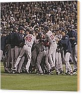 World Series Boston Red Sox V Colorado Wood Print
