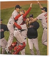 World Series Boston Red Sox V Colorado Wood Print