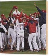 World Series Game 5 Detroit Tigers V Wood Print