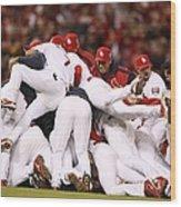 World Series Game 5 St. Louis Cardinals Wood Print