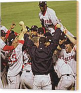 World Series Red Sox V Cardinals Game 4 Wood Print