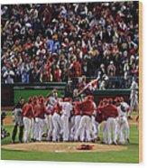 World Series Tampa Bay Rays V Wood Print