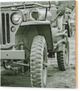 World War II Era Us Army Jeep Wood Print