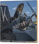 Ww2 F4u Corsair  Wood Print