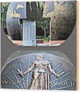World War 2 Memorial Savannah Wood Print