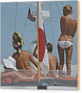 Yacht Holiday Wood Print