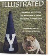 Yale Bulldogs Mascot Sports Illustrated Cover Wood Print