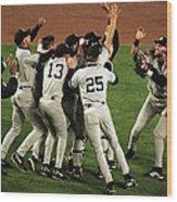 Yankees Celebrate Wood Print