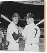 Yankees Center-fielder Joe Dimaggio Wood Print