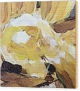Yellow #4 Wood Print