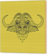 Yellow Buffalo Wood Print