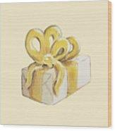 Yellow Present Wood Print