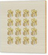 Yellow Presents Pattern Wood Print